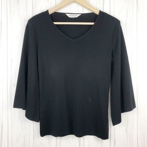 Exclusively Misook Black Wide Sleeve Black